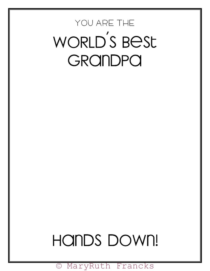 World's Best Grandpa - Father's Day Printables I'm doing this!