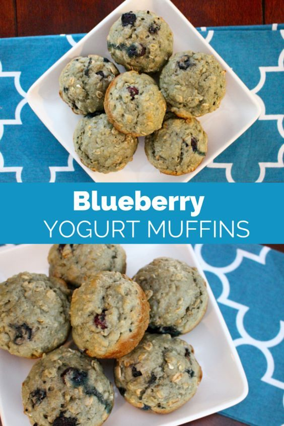 Made with simple and healthy ingredients, these blueberry yogurt muffins are the perfect snack or breakfast on-the-go! from @Mom to Mom Nutrition