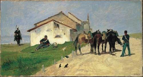 Giovanni Fattori | 1825-1908, Italy, Macchiaioli | La Pattuglia / The Patrol