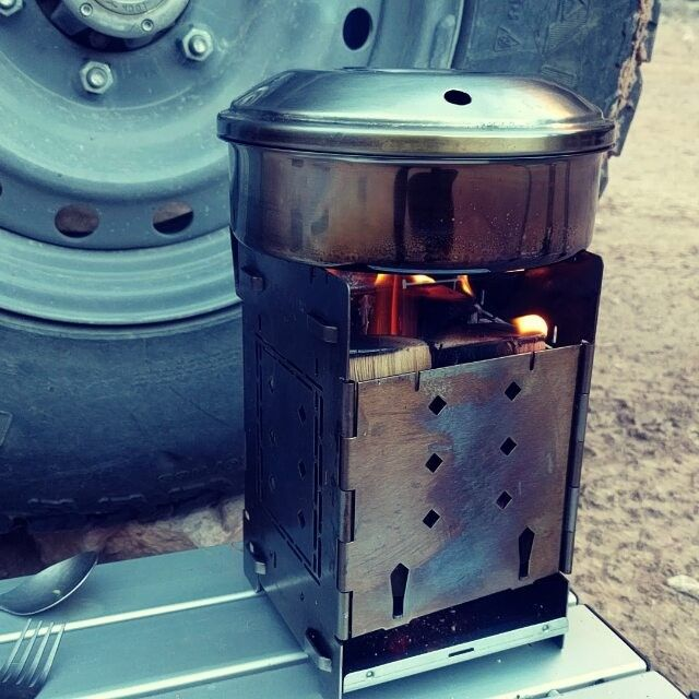 """Kitchen Stove Fire: 5"""" Firebox Stove Camp Cooking! #firebox_Stove#fireboxstove"""