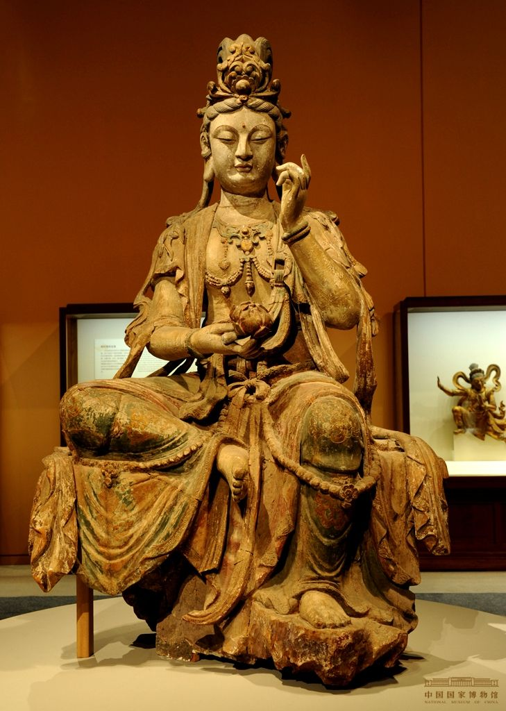 Seated Avalokiteśvara Bodhisattva, Song Dynasty (960–1279) @ National Museum of China