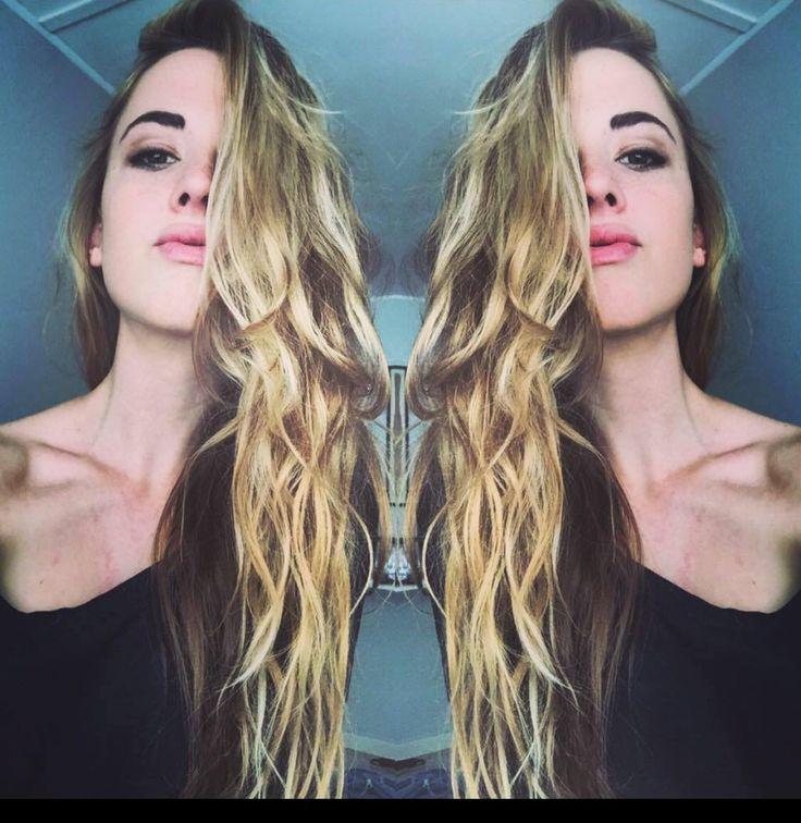Long , wavy hair