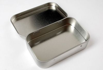 Altoids mints sized tin for Beagle Bone / Raspberry Pi enclosure (or you could just buy a tin of Altoids)