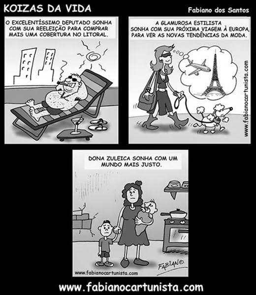 Fabiano Cartunista: TIRINHA DESIGUALDADE SOCIAL