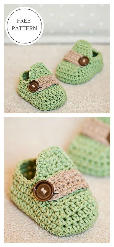 Baby Moccasins - crochet baby booties Free Pattern