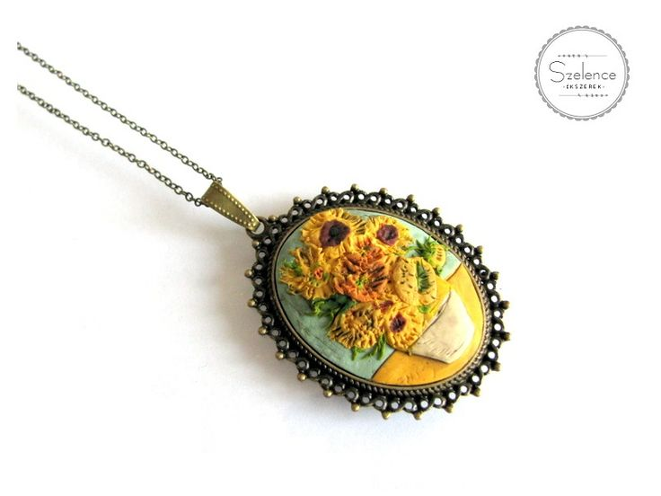 "Van Gogh ""Sunflowers"" Necklace 