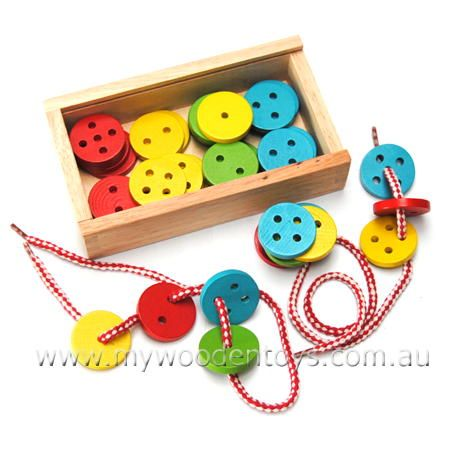 Large wooden threading buttons  $15.95
