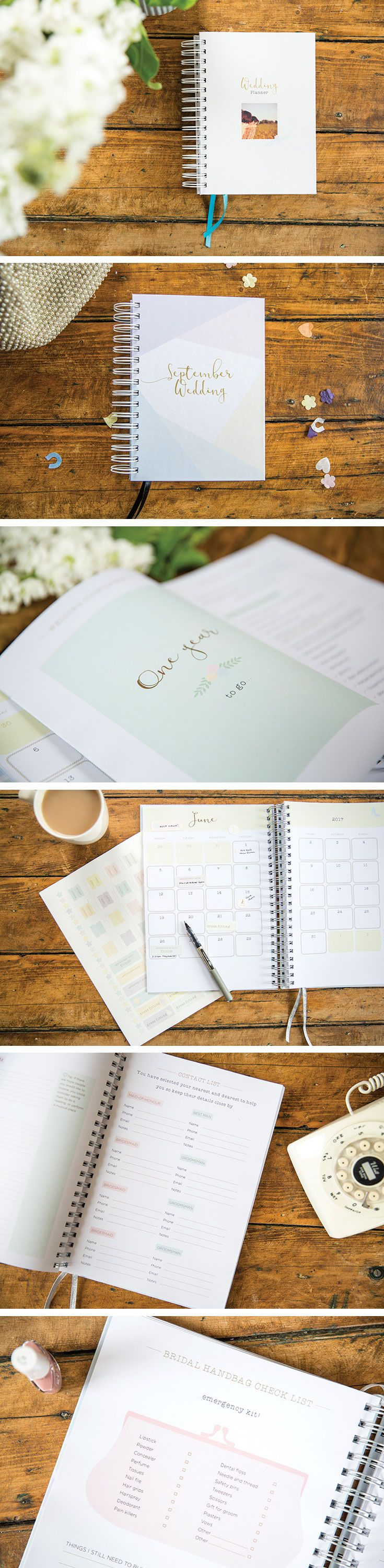 Do you hear wedding bells? | There's a planner for that.  Design your own wedding planner, monthly pages counting down to your specific wedding month. Personalise with photos and pages that are relevant to your unique wedding. #weddingplanner