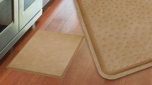 gelpro ostrich khaki gel mats | gel-filled comfort floor mats and