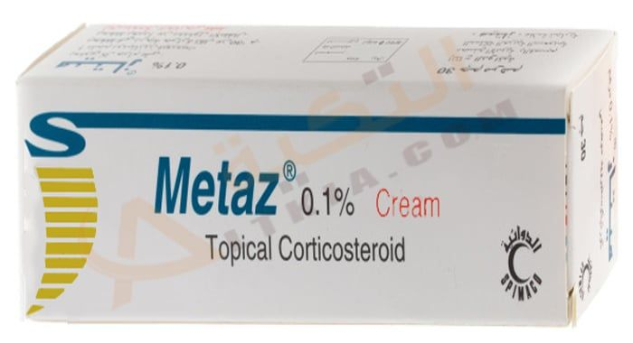 دواء ميتاز Metaz كريم لعلاج التهابات الجلد الكريم له فاعلية كبيرة في علاج الأمراض الجلدية التي تصيب الجهاز التناسلي بجانب الأمراض الجلدية في ا Topical Cream