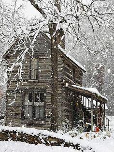 Simple cabin beauty in the winter!