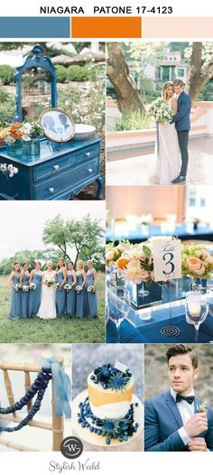 romantic pantone color niagara and pink wedding colors for 2017 trends