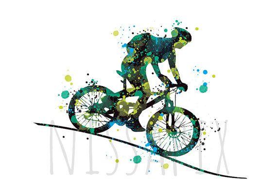 MTB-Illustration Sport Kunst digitale Zeichnung Bike von NissaPix