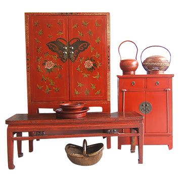 Red Cabinet Set