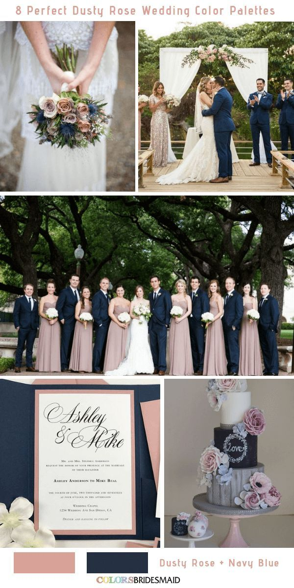 8 Perfect Dusty Rose Wedding Color Palettes for 2019 – Member Board: Bride & Bridal Party Fashion