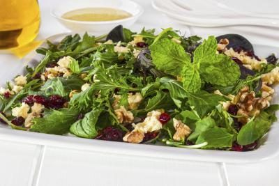 Cranberry, walnut and feta salad