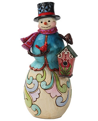 Jim Shore Collectible Figurine, Snowman with Birdhouse - Holiday Decor - Holiday Lane - Macy's