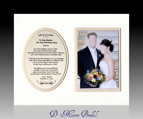 Wedding Gift Ideas For Brother: To My Brother On My Wedding Day Personalized Bridal Gift