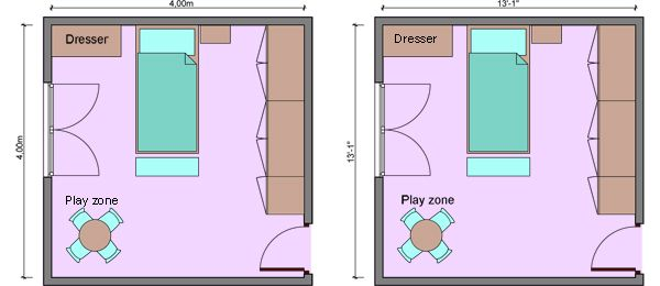 large bedroom kids bedroom measurements bedroom dimensions ideas for the house pinterest. Black Bedroom Furniture Sets. Home Design Ideas