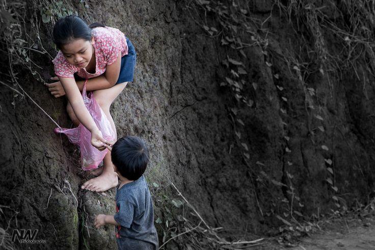 helping hands, Luang Prabang, Laos