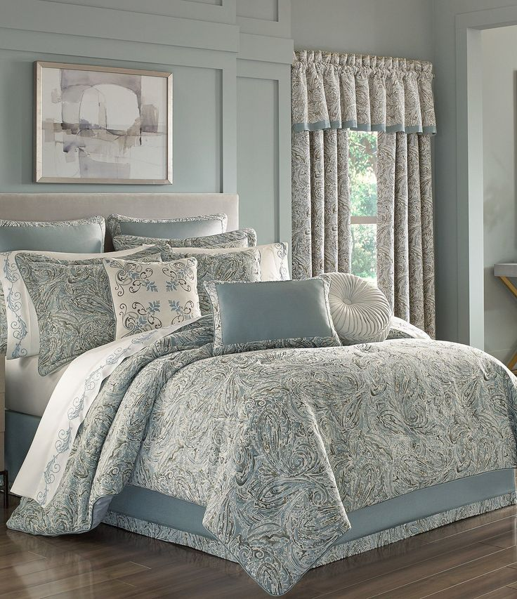 J Queen New York Giovani Paisley Comforter Set Dillards