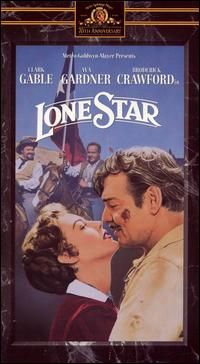 Lone Star //    Directed byVincent Sherman  Produced byZ. Wayne Griffin  Written byBorden Chase  Howard Estabrook  StarringClark Gable  Ava Gardner  Broderick Crawford  Ed Begley  Lionel Barrymore  Music byDavid Buttolph  CinematographyHarold Rosson  Editing byFerris Webster  Distributed byMetro-Goldwyn-Mayer  Release date(s)February 8, 1952