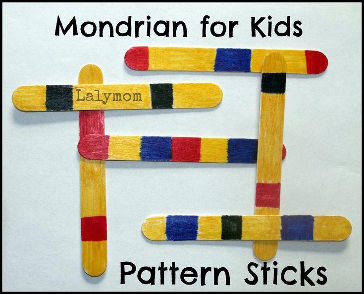 Mondrian for kids Boogie Woogie Broadway art project class