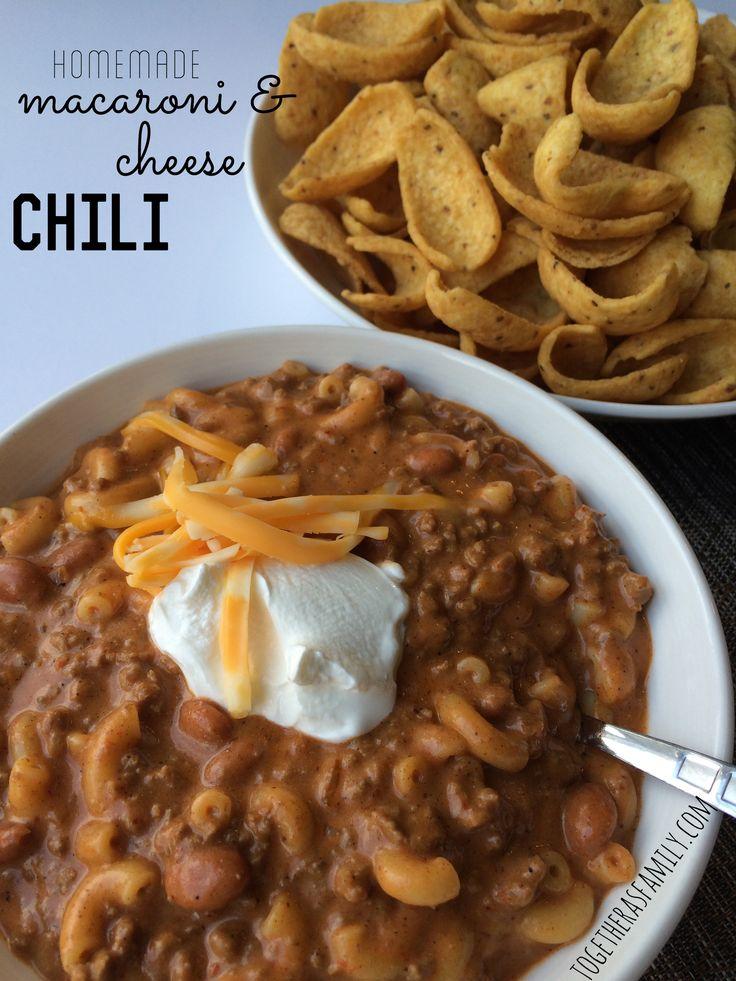 Homemade Macaroni & Cheese Chili