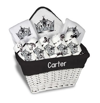 9 best los angeles kings baby gifts images on pinterest babys our personalized los angeles kings large gift basket is a perfect baby gift with 5 burp negle Image collections