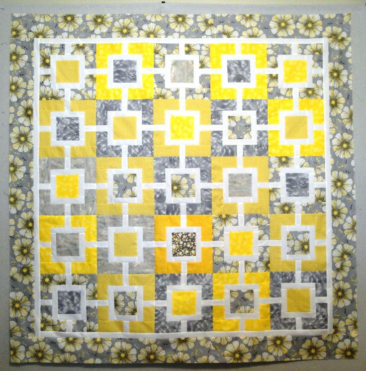 12 best Yellow and Gray Quilts images on Pinterest | Quilt ... : bright yellow quilt - Adamdwight.com