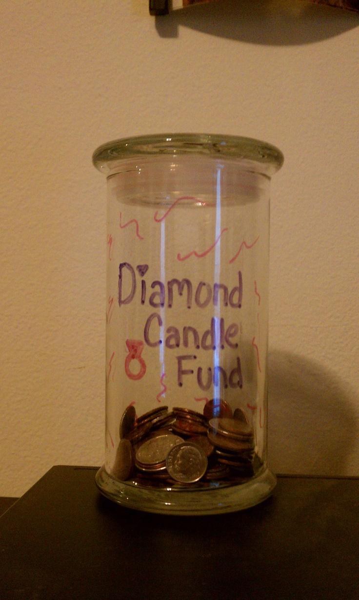 Diamond Candle Fund Jar such a good idea!  #diamondcandles and #harvestcontest2012
