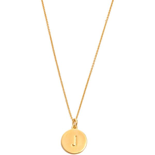 kate spade new york letter pendant necklace aud liked on polyvore featuring jewelry necklaces j gold plated initial necklace initial necklace