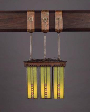 Hanging lantern (1903-08), designed by Dard Hunter, made by Karl Kipp. Museum of Fine Arts, Boston.