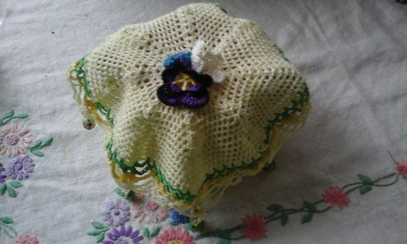 The Little Posy Jug/sugar bowl Cover. by LynTheobaldCraft on Etsy