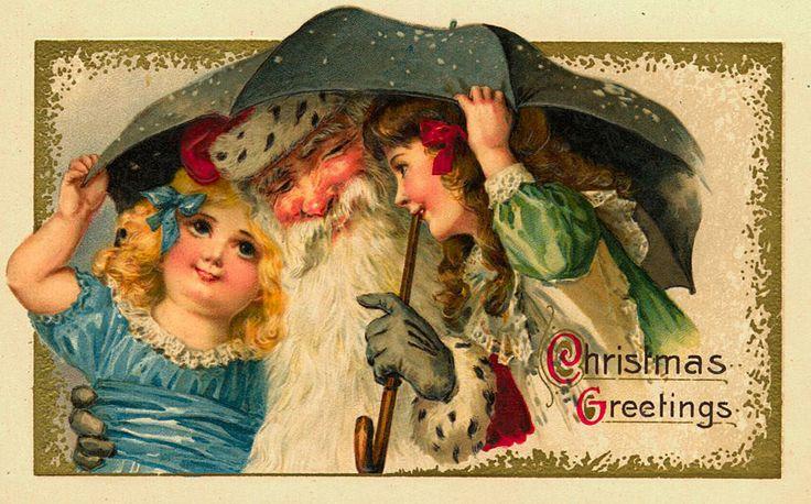 Винтажные рождественские и новогодние открытки с ангелами и Санта Клаусом. Обсуждение на LiveInternet - Российский Сервис Онлайн-Дневников