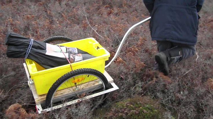 Homemade Tundra Kart and Bike Trailer   kerekpárok ...