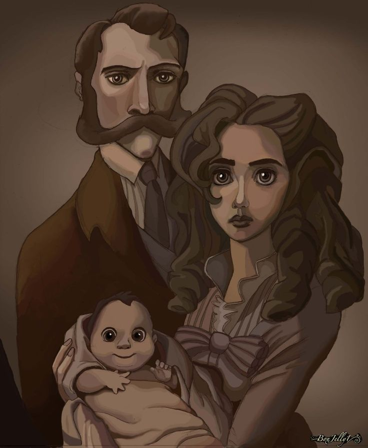 Tarzan with his birth parents, I will always live his parents his mother was very beautiful and they booth loved him very much