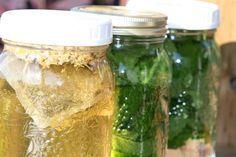 Make Sun Tea. Try herbs like mint, lemon balm, or even chocolate mint.