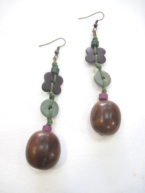 #earrings #handmade #ceramic #seeds