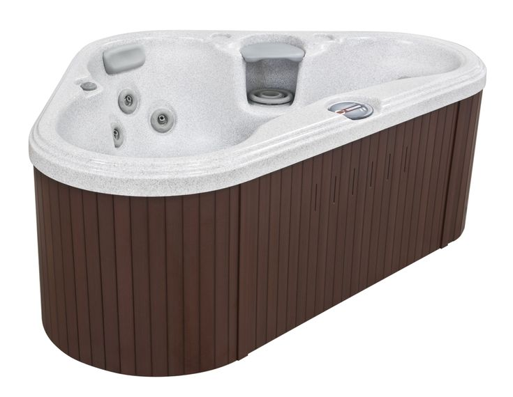 The waterfront city of Tacoma, Washington is tucked between the shores of Commencement Bay and Mt. Rainier. The Sundance® Spas Tacoma™ portable spa, with its curved-triangle shape, fits comfortably into a corner, too. Ideal for small spaces, this hot tub offers hydrotherapeutic benefits found in larger hot tubs – back-therapy seating, armrests, foot jets, and pillow headrests. All these features prove that a small, portable spa can be large on features.