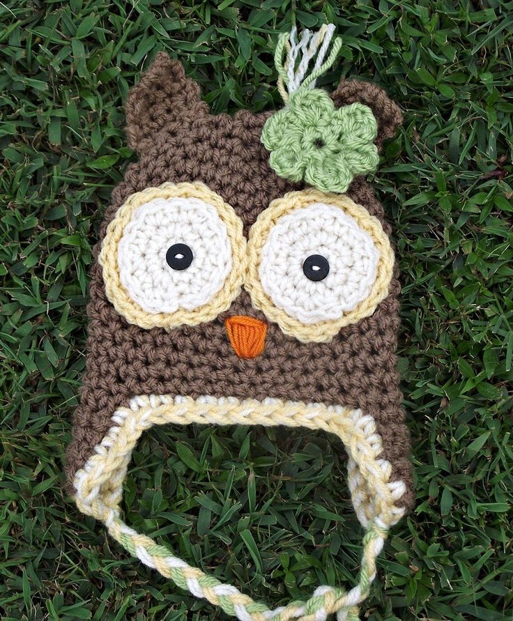 Easy Crochet Owl Hat Pattern cakepins.com