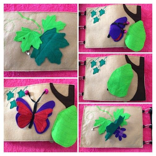 Faith and Felt Obsession: Tahlia's Quiet Book - Grapes, Butterfles, Bee and ...