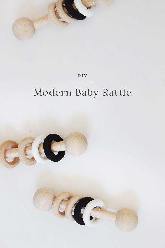 ok here it is! the first baby DIY. i loooove all the simple wooden toys that are available for babies, but they're pretty pricey, so when i saw a simple wood rattle i realized i could make a …
