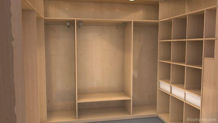 Vestidor realizado completamente en madera todo un for Closet de madera para dormitorios