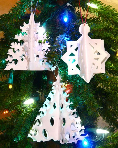 Danish paper cutting by gingerbread_snowflakes, via Flickr and simple Danish Paper trees