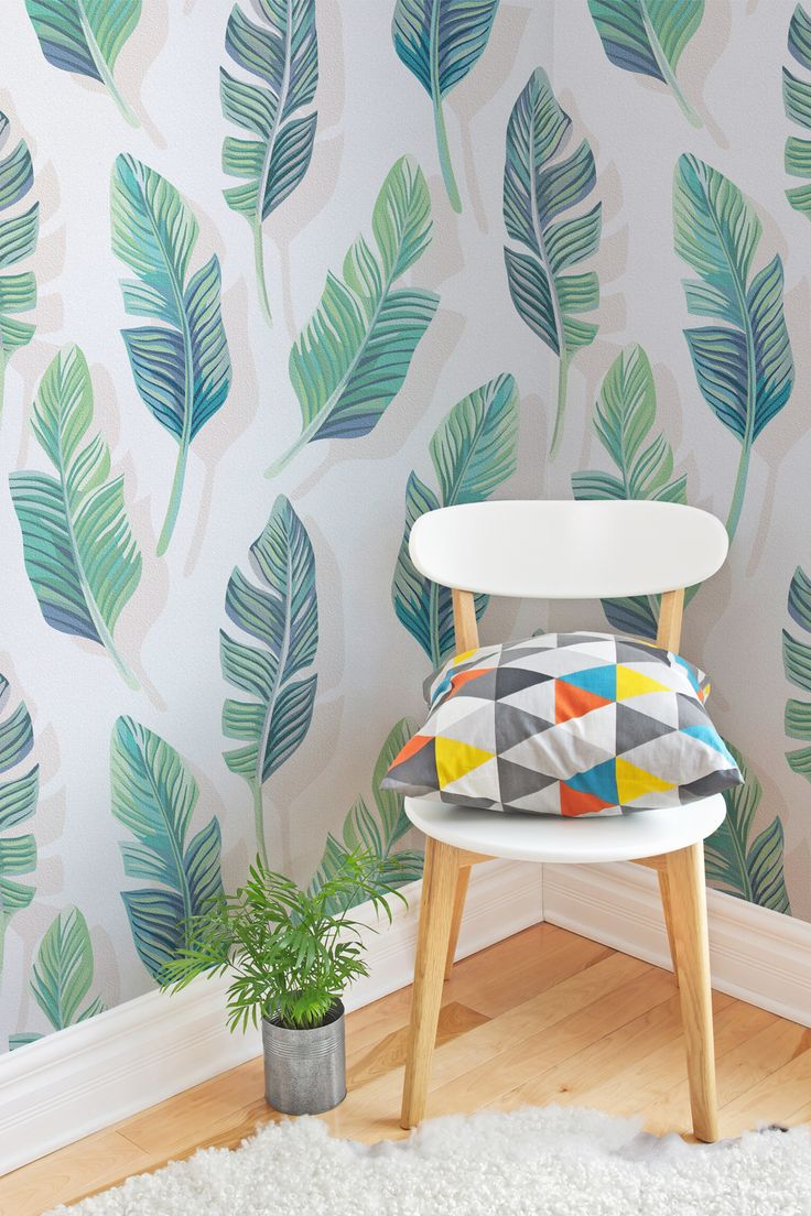 After a contemporary take on tropical interiors? The slight shadow behind the leaf adds a dynamic feel to your interiors, giving you a totally unique wallpaper design. It's perfect for living room spaces looking for a boost of colour without being too overwhelming.