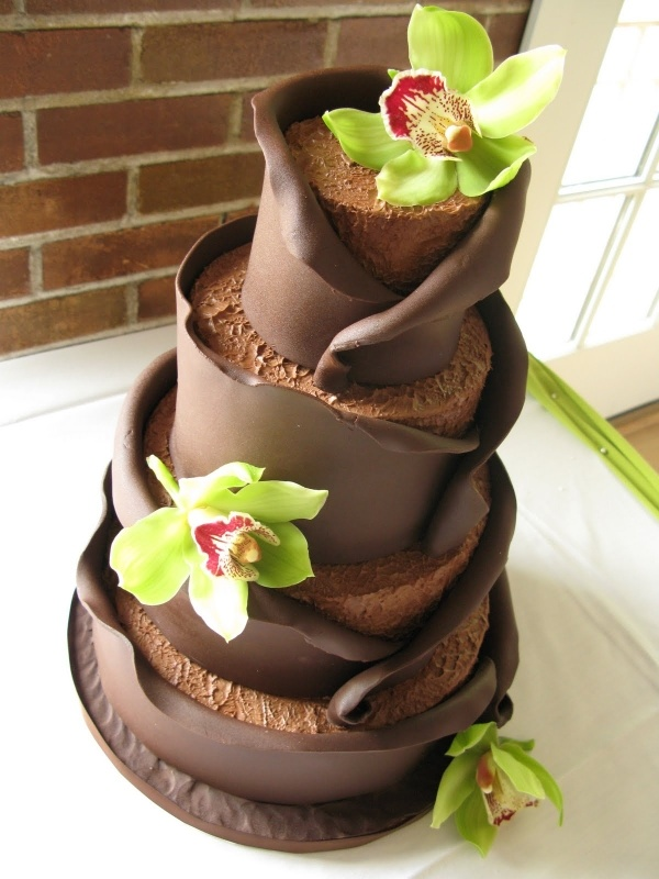 Fresh Bright Green Against A Deep Chocolate Brown Delish By Www Joraweddingcakes