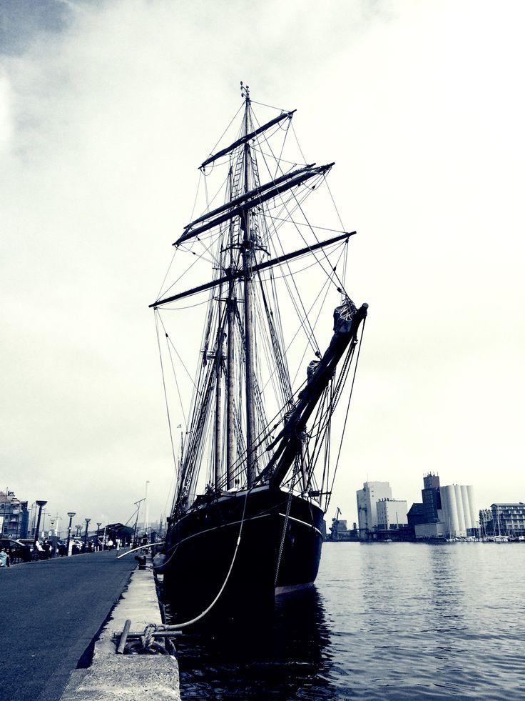At some Point I Will come Back dear #flensborg #nautical #sailing #sailor #coast #ocean #beach #yacht #yachtlife #sail #sailboat #crew #sailyacht #sea #ship #boat #decks #nautique #wind #dock #deutschland #oldship #grey #dark #pic #blackandwhite #freedom #moin #relax #love