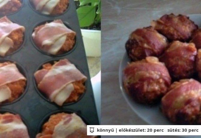 Baconos töltött fasírt