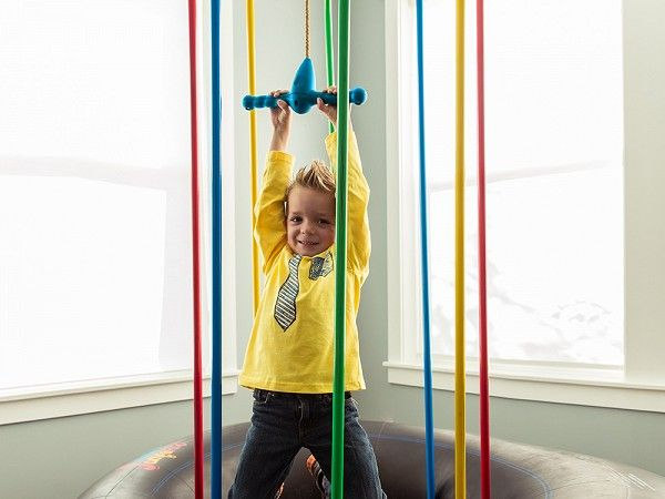 This kids jungle gym rope swing, discovered by The Grommet, is a safer and easier way for kids to play both indoors and outdoors.